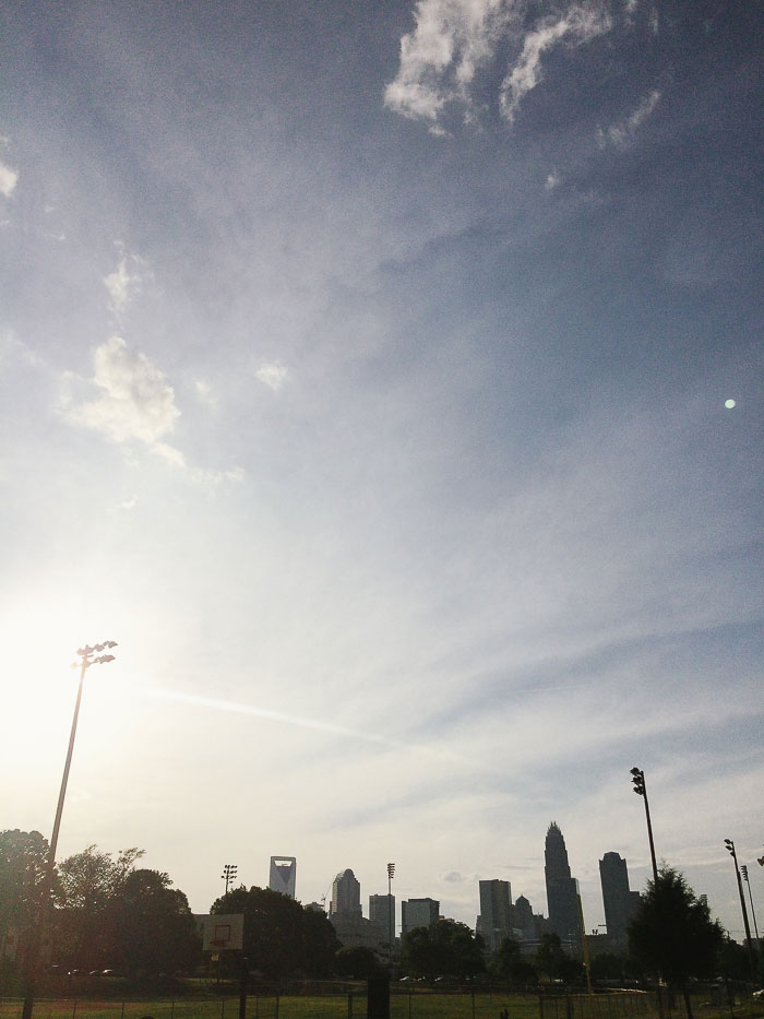 Independence Park skyline