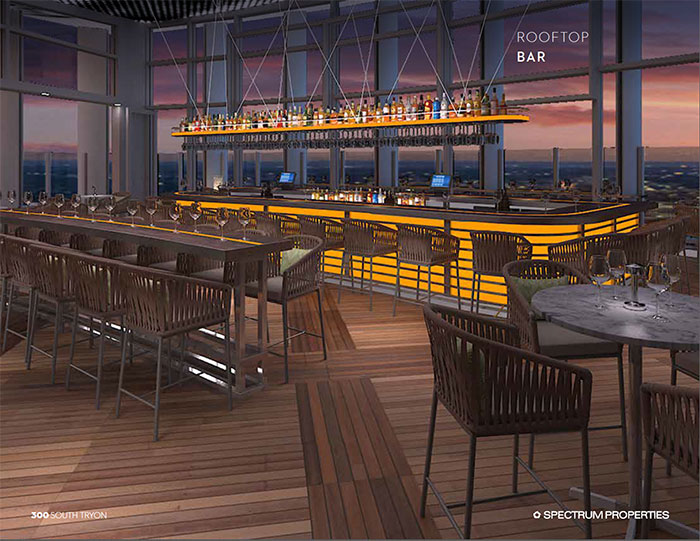 300 S Tryon Rooftop-indoor-bar