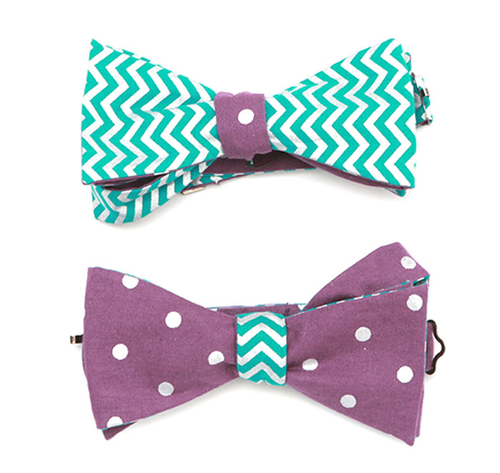 chevron-and-polka-dot-bow-tie