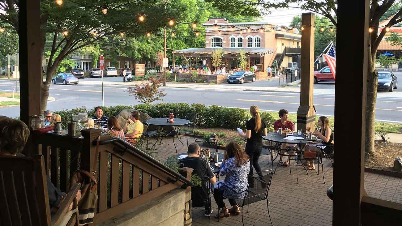 East Boulevard is Charlotte's restaurant row
