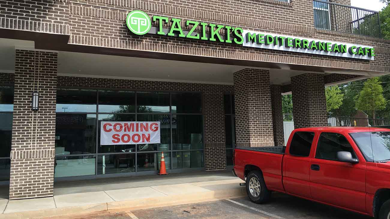 Midtown Mediterranean Showdown: Taziki's opens June 14 near Zoes Kitchen