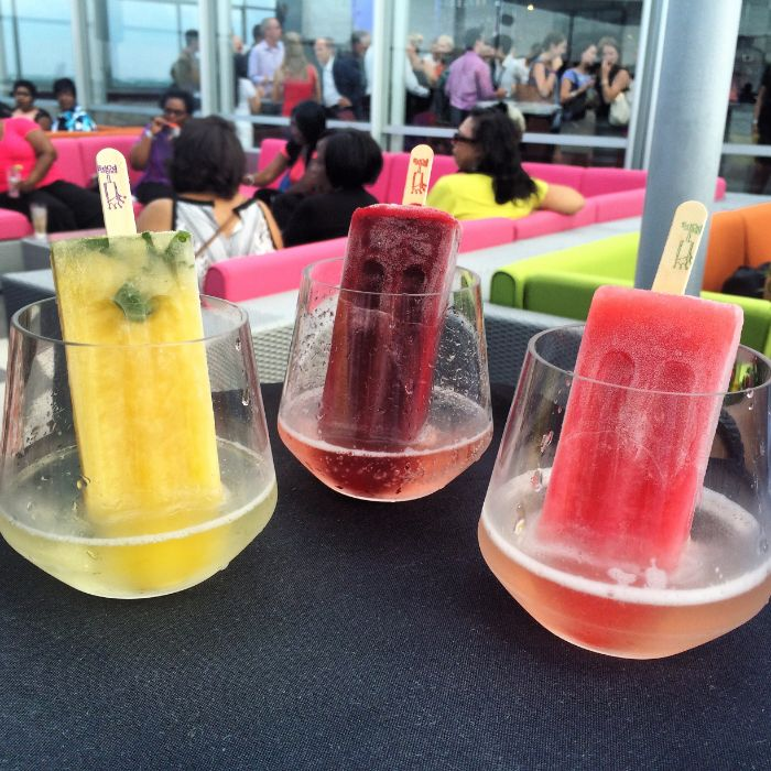 city lights rooftop popsicle cocktail