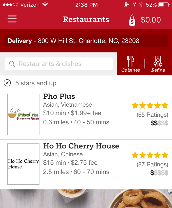 Food Delivery Charlotte Nc App