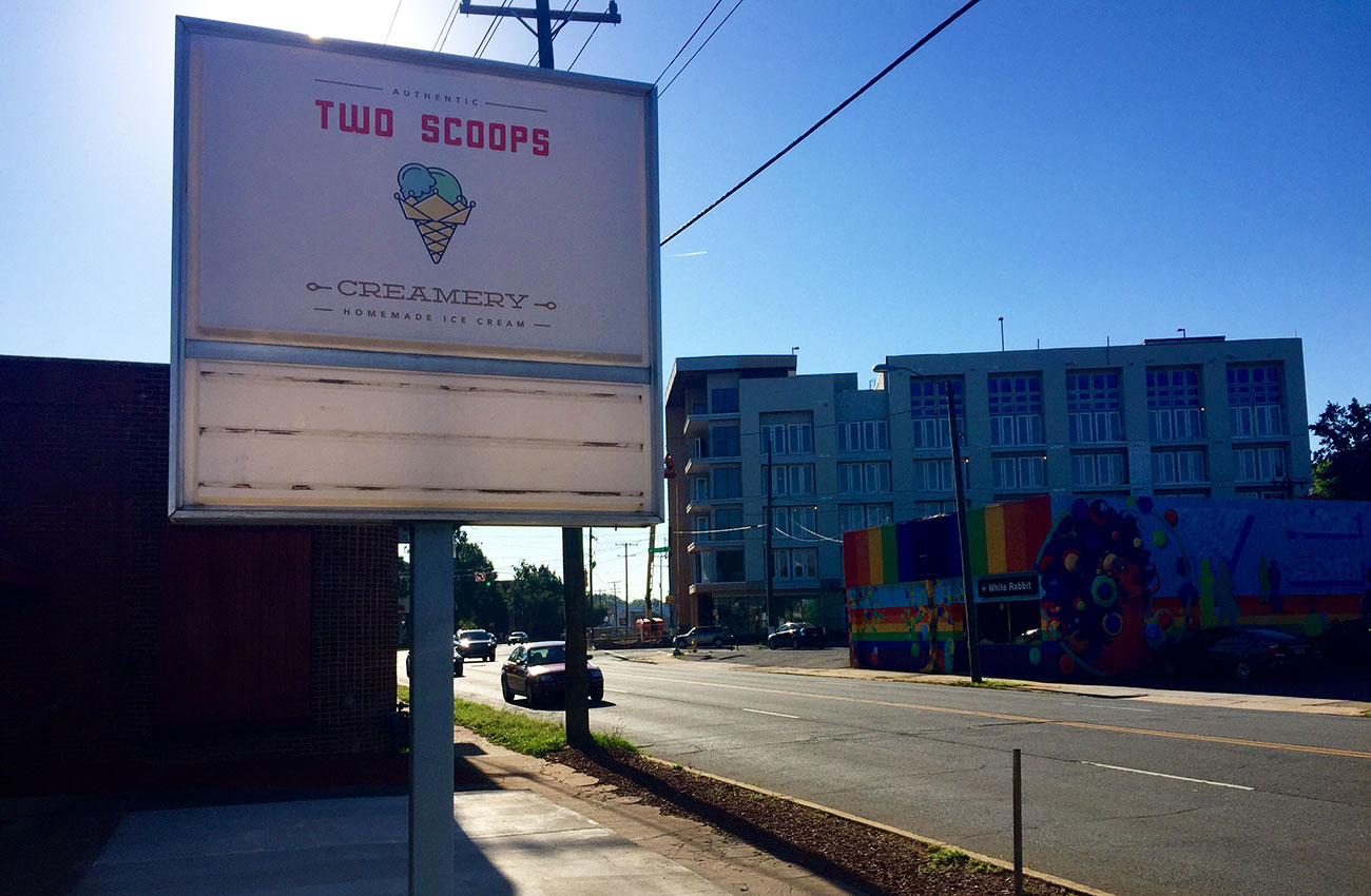 Two Scoops Creamery, a homemade ice cream shop, is coming to Plaza Midwood