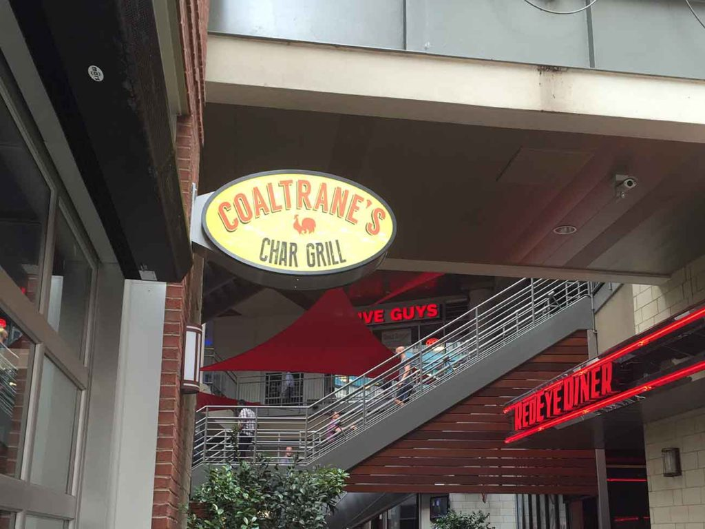 Coaltrane's is opening soon at the EpiCentre. Here's a preview of the char-grilled menu