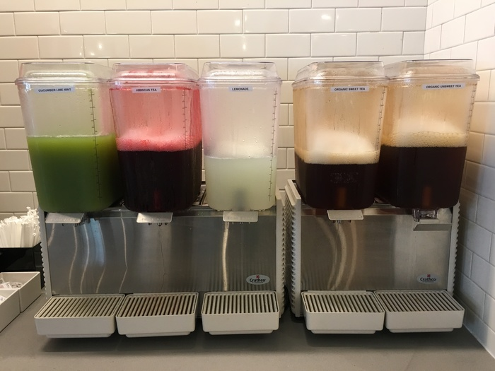 juices and teas at yafo kitchen