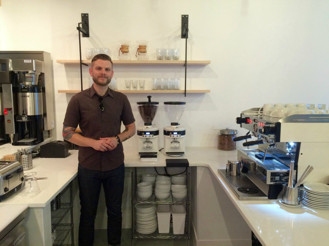 Take a look inside Not Just Coffee's newest Uptown location, opening soon