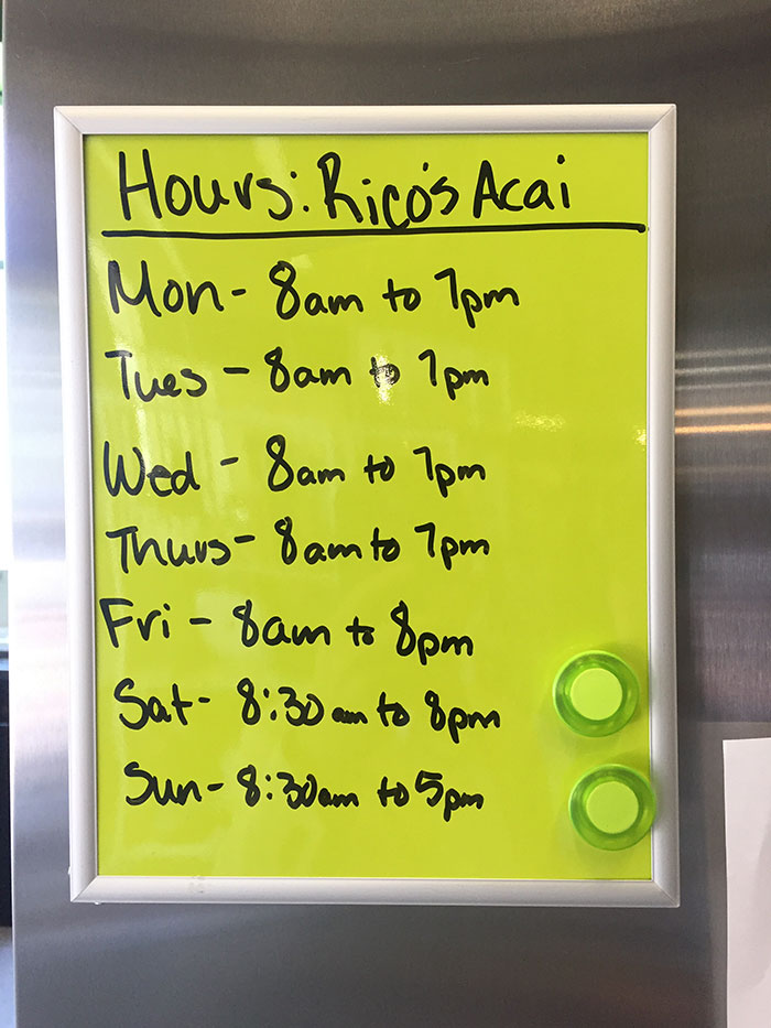 rico's-hours