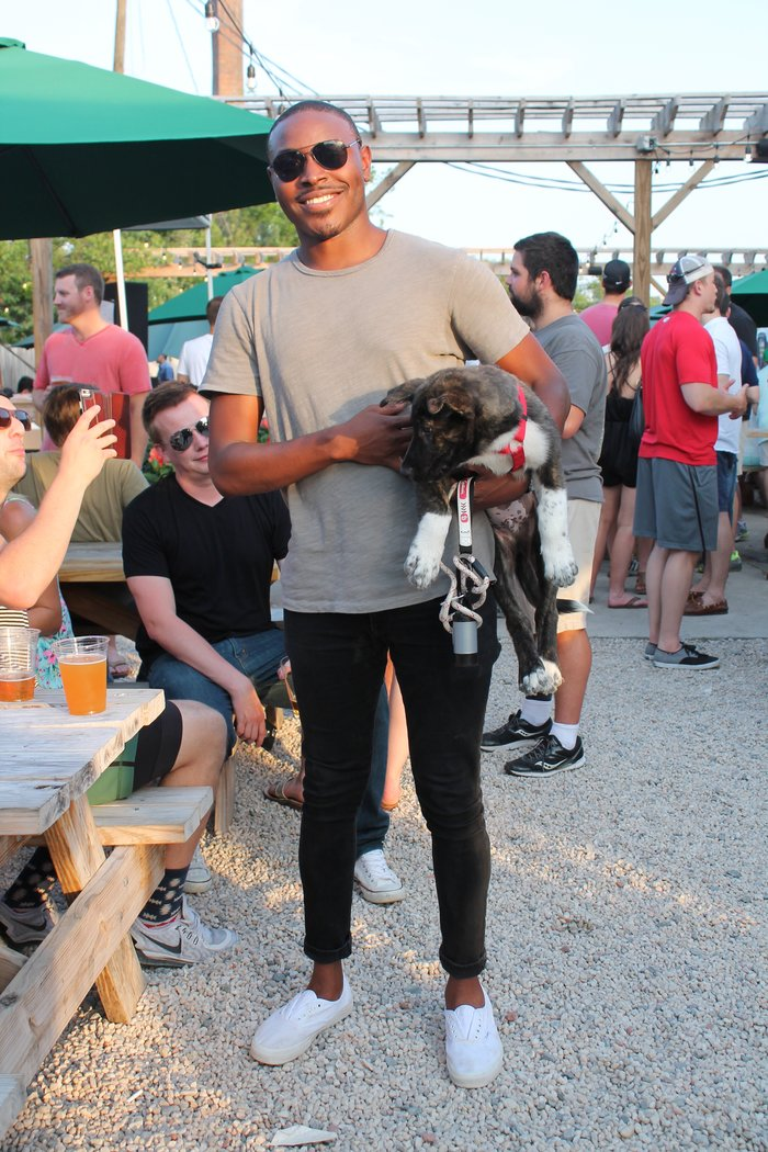 Jamel & his dog, James Dean @ Sycamore Brewing