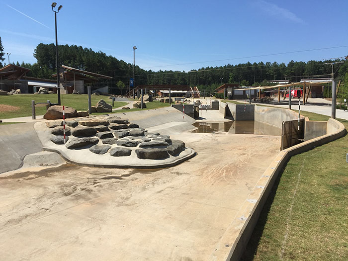 Whitewater Center Drained