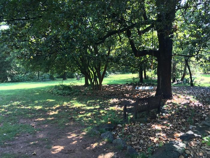 vanlandingham garden with swing