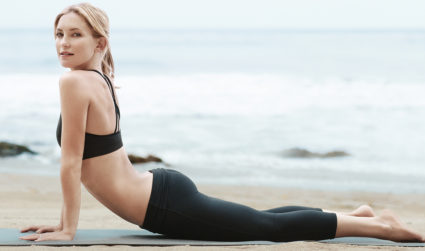 Fabletics Grand Opening in SouthPark Mall: champagne, discounts and an acroyoga artist