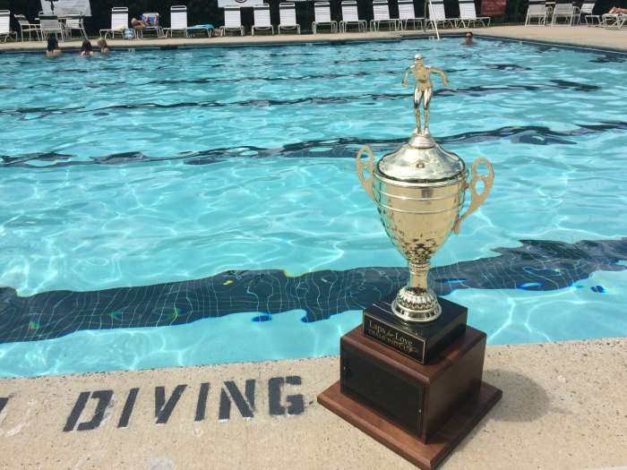laps for love swim trophy