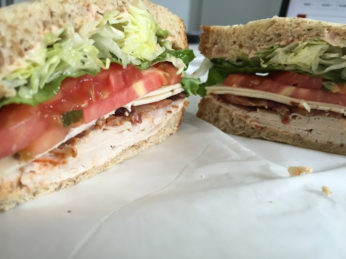 turkey sandwich at laurel market