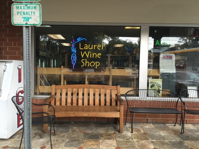 bench at laurel market myers park
