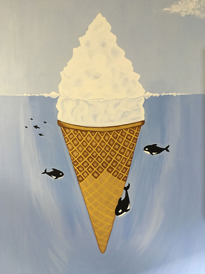 ice cream mural