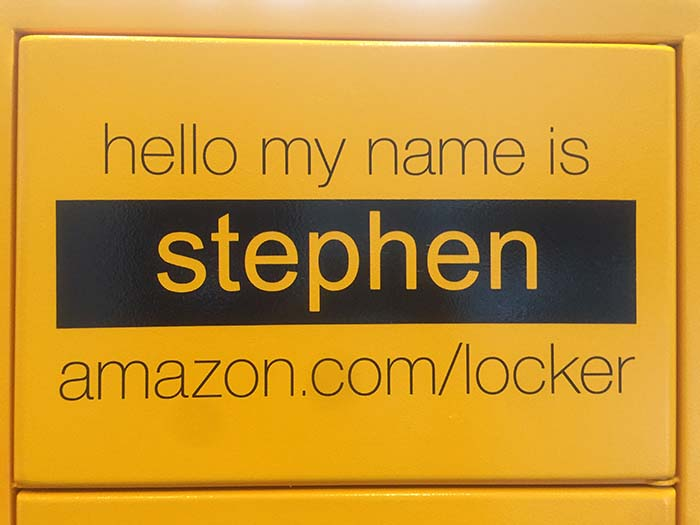 here 39 s how the amazon locker at the epicentre works charlotte agenda. Black Bedroom Furniture Sets. Home Design Ideas