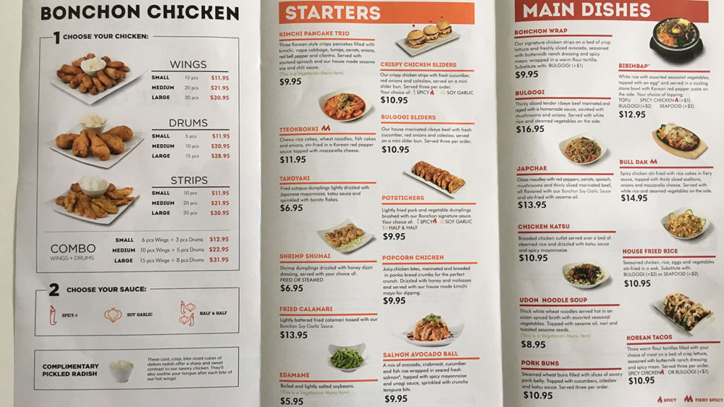 Bonchon to open in early September, here's the menu and a look inside