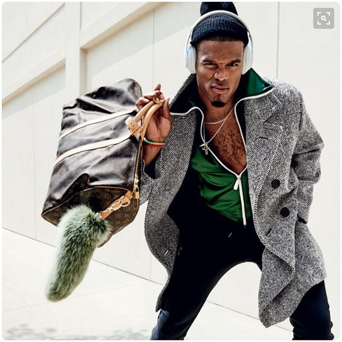premium selection 6501a 0d4f8 The top 5 outfits from Cam Newton's GQ photo shoot ...