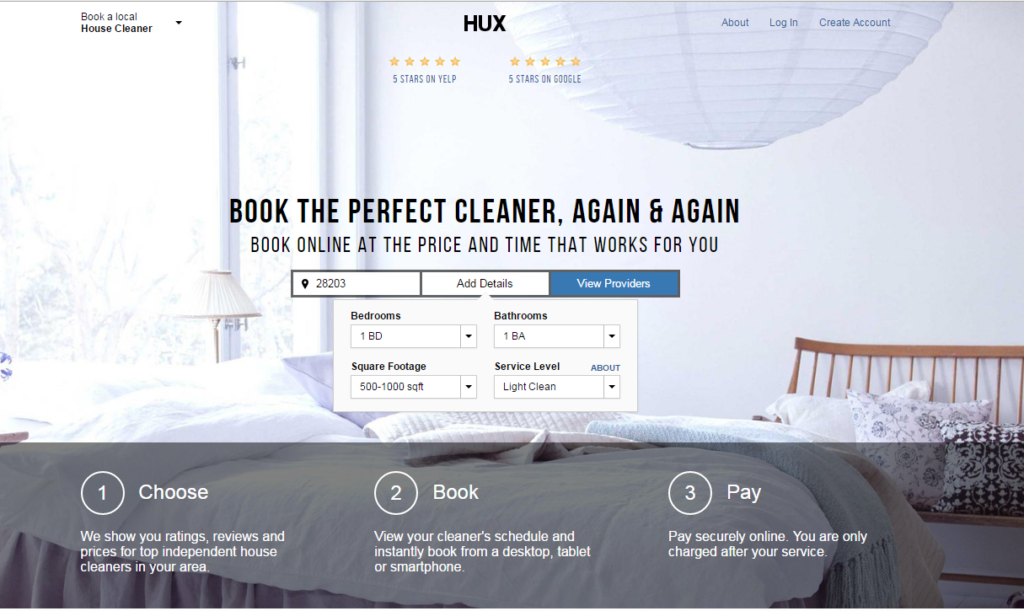 Think Uber for house cleaning: Hux has arrived in Charlotte
