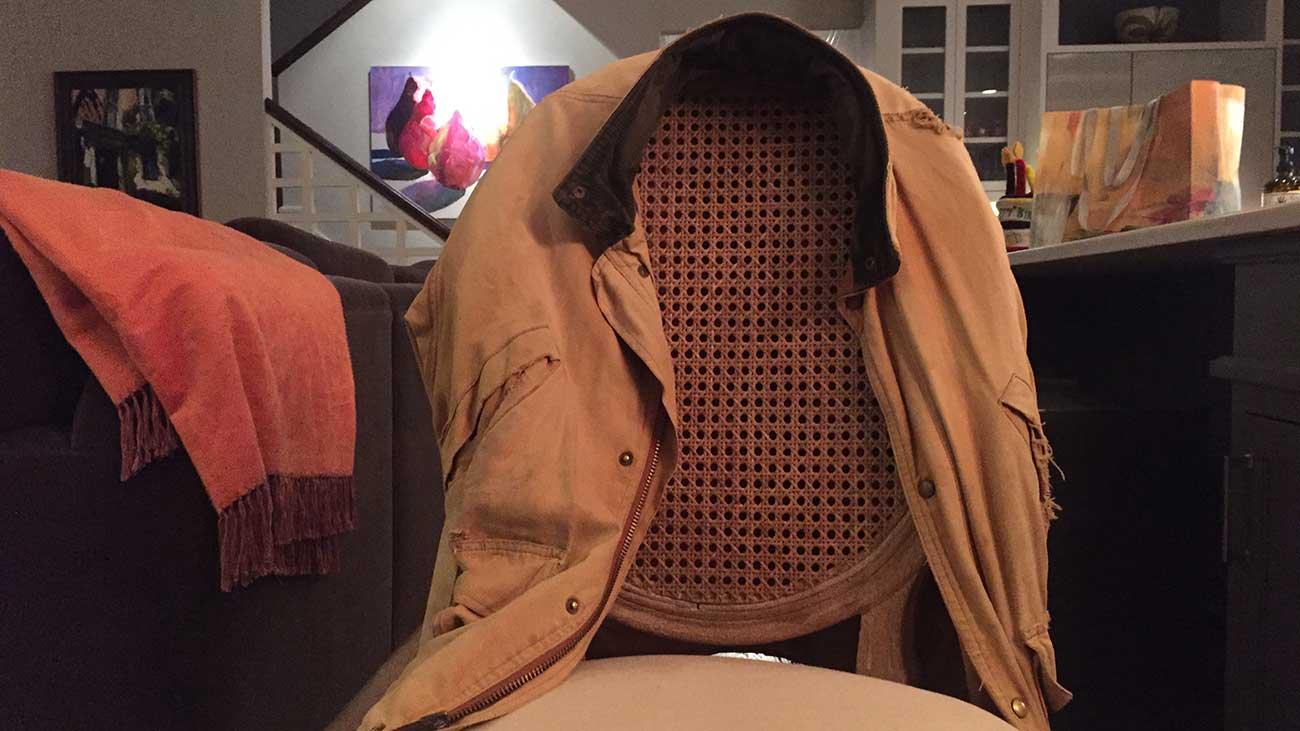Artist Adrian Redmond turned a rugged jacket into an inspiring piece