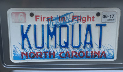 "The NCDOT Might Revoke This Offensive License Plate: ""KUMQUAT"""
