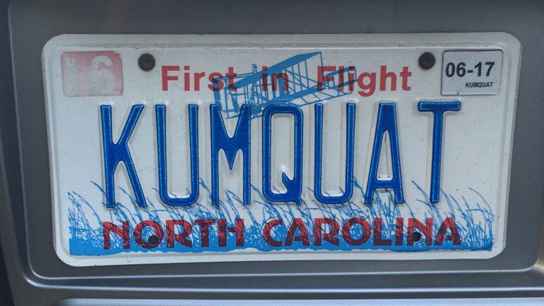 "The NCDOT Might Revoke This Offensive License Plate: ""KUMQUAT"""