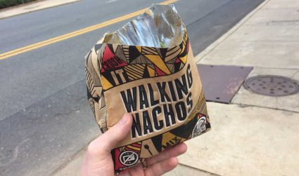 """Taco Bell is testing """"Walking Nachos"""" only in Charlotte. I don't..."""
