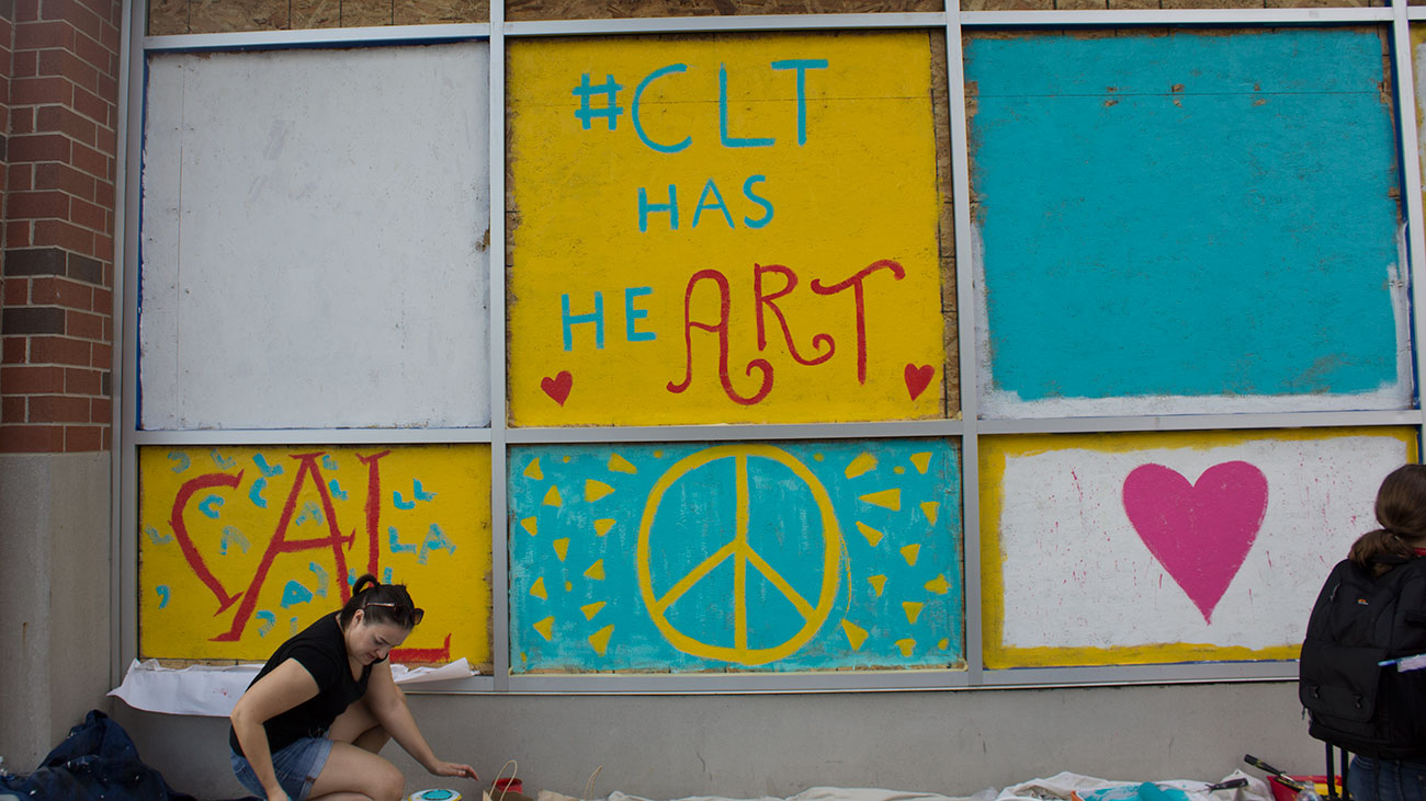 Charlotte artists turned the damaged Hyatt House windows into works ...