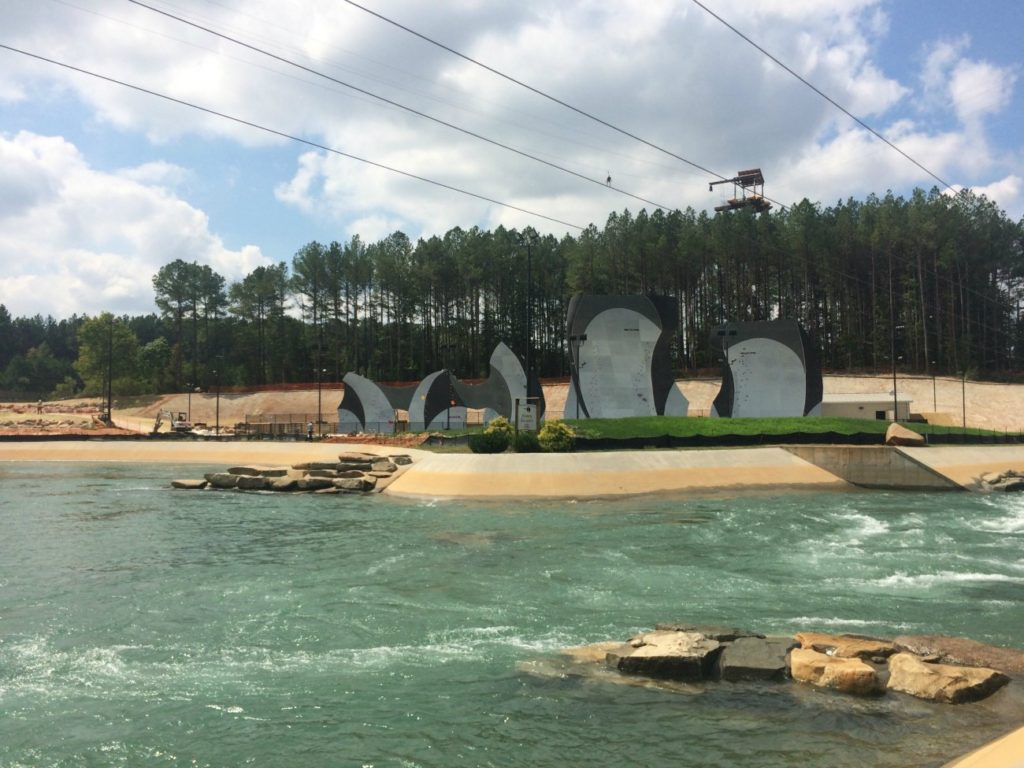 Soon you'll be able to rock climb rope-less over water at the USNWC