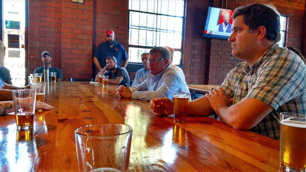 Speaker Tim Moore stopped by Triple C today and met with most of Charlotte's brewers