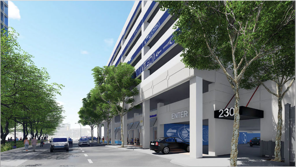Renderings: Ugly parking deck across from Packard Place set for gorgeous makeover