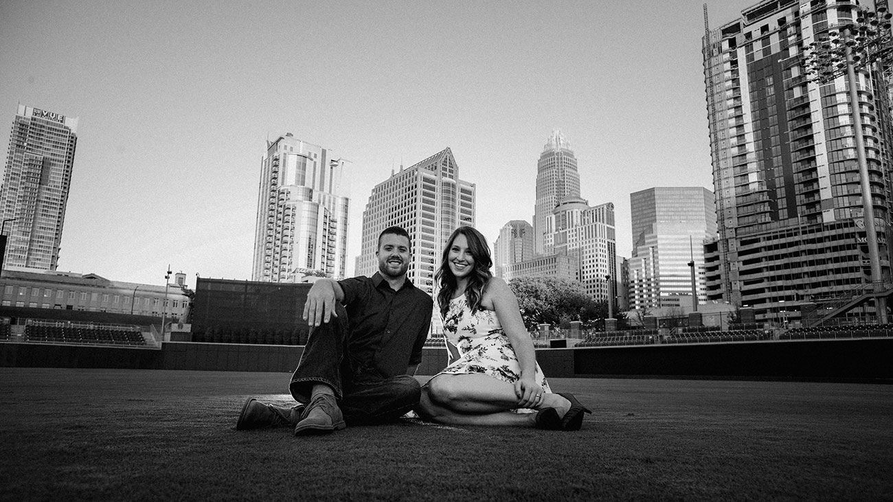 This is what engagement photos look like at BB&T Ballpark