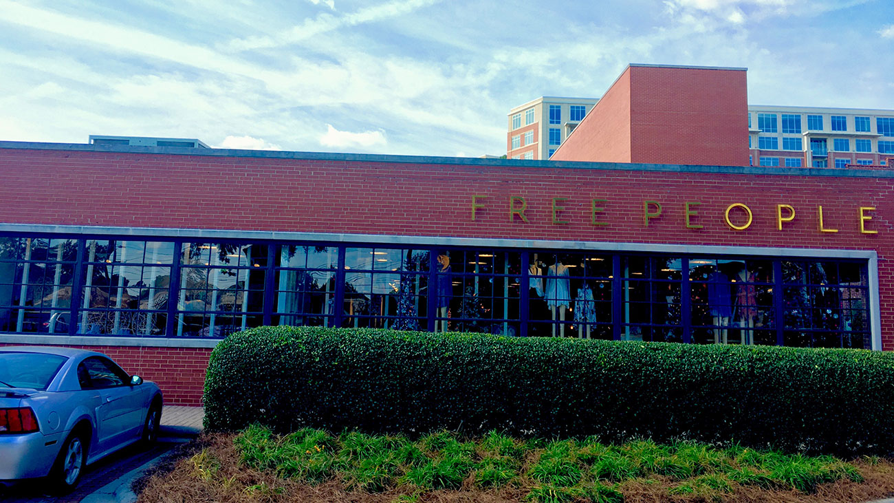 Free People opens today in Atherton Mill. Get the scoop on grand opening party freebies