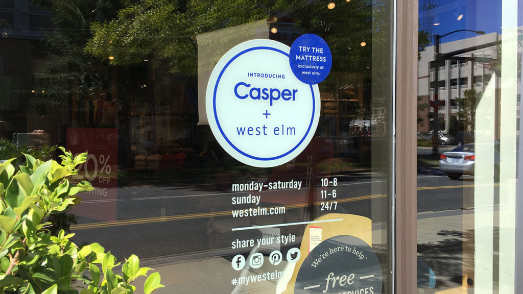 Where in Charlotte can you try the Casper mattress?