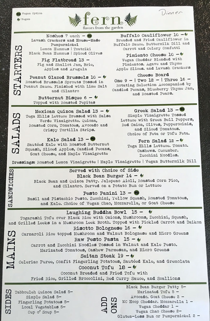 dinner-menu-at-fern-in-dilworth