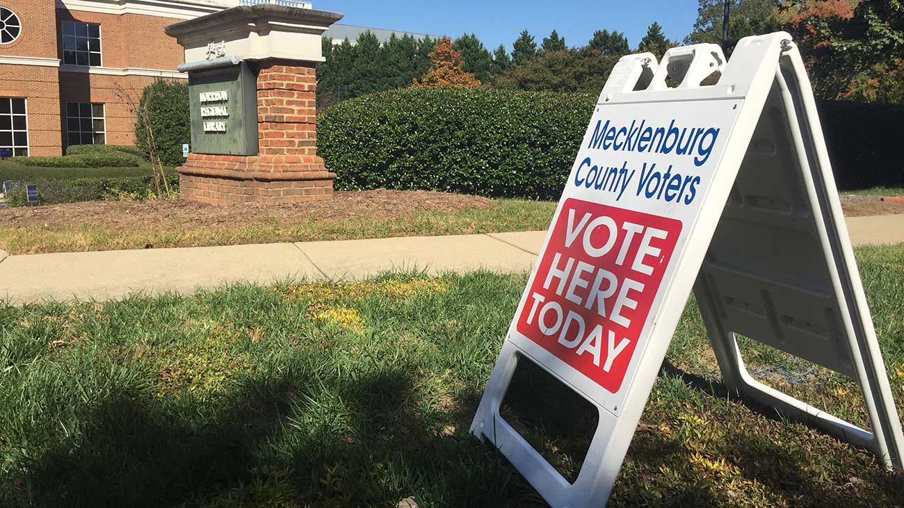 Cast your ballot for Charlotte's mayor. Early voting starts today