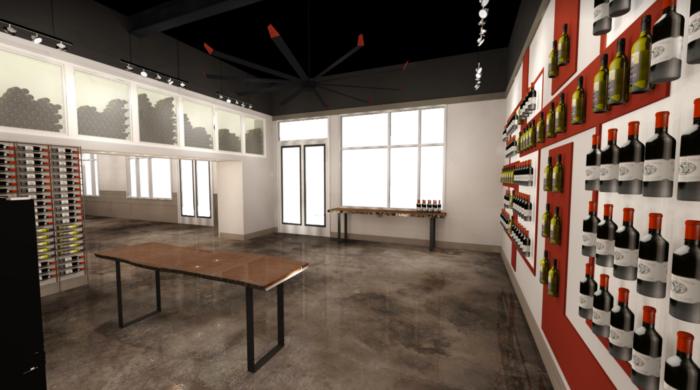 Fidelli wine and beer room