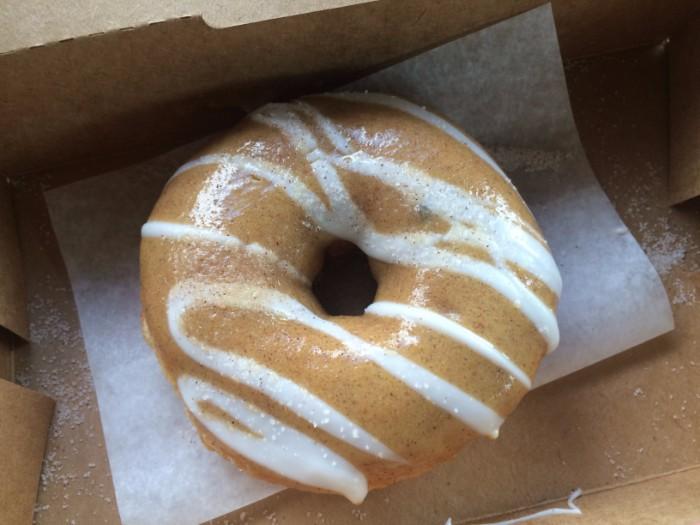 duck donuts pumpkin pie doughnut