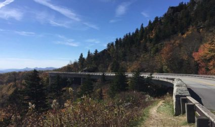 Skip work today and drive to the Linn Cove Viaduct