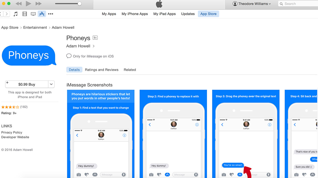 How much money did local technologist Adam Howell make off of his iOS app, Phoneys?