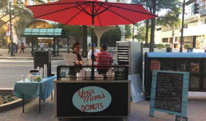Matthews-based Your Mom's Donuts rolled out a doughnut cart in Uptown