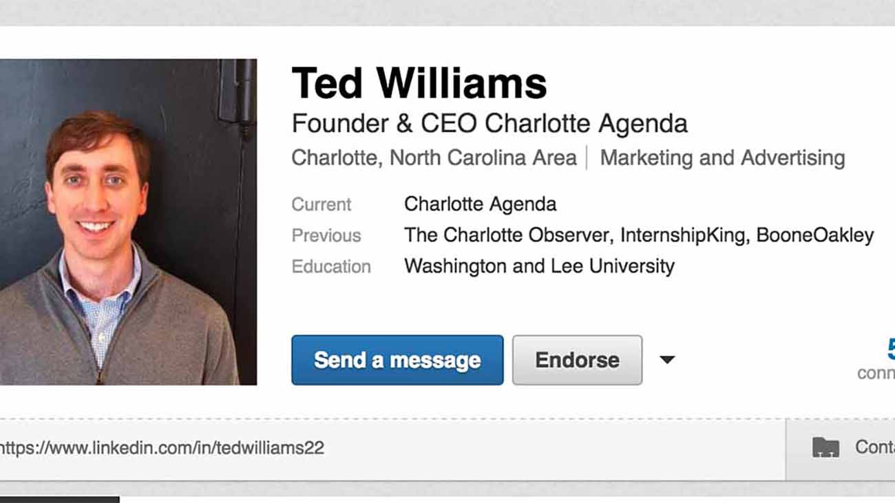 We asked a Lowe's recruiter to help Ted optimize his LinkedIn profile.
