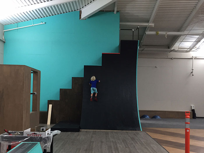 kinetic heights wall climb