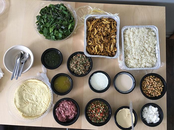 group-menu-spread-at-yafo