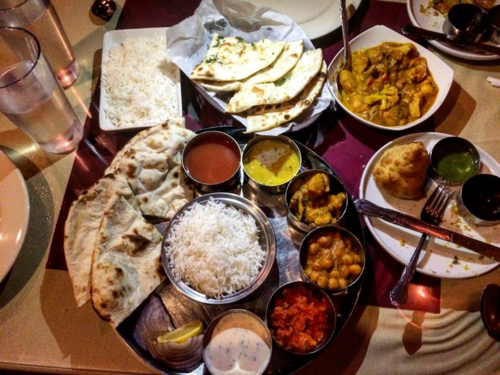 Where to get Indian thali in Charlotte
