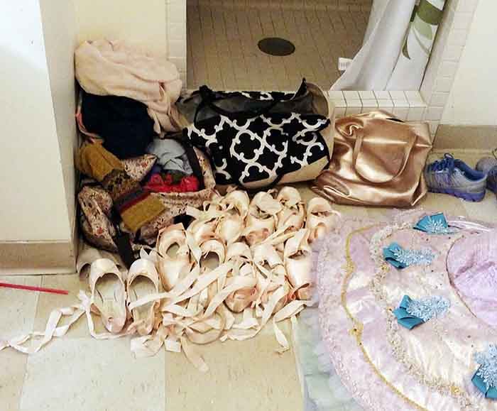 So. Many. Pointe. Shoes.