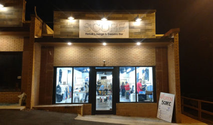 Score, a clothing boutique and coffee house, is now open in...