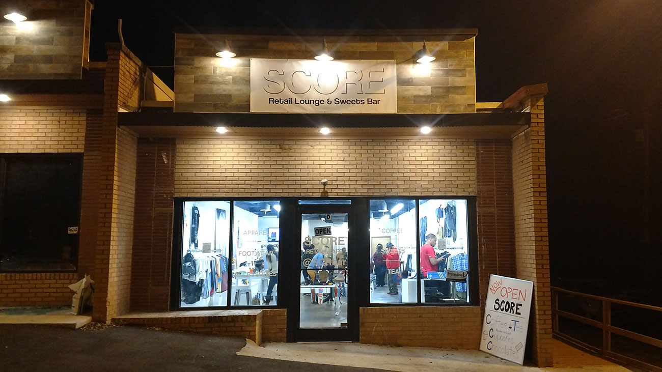 Score, a clothing boutique and coffee house, is now open in NoDa