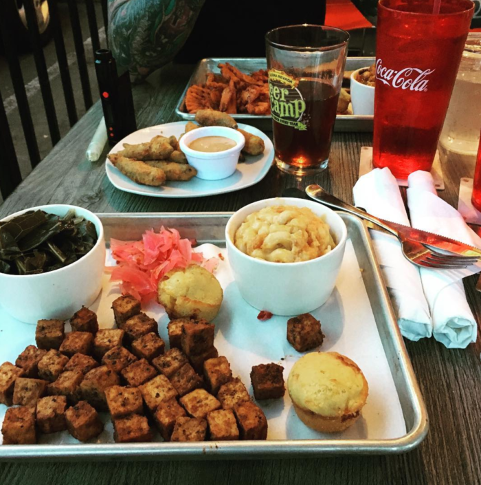 A vegetarian smoked tofu platter via Instagram